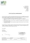 Certificat - Déclaration sans OGM